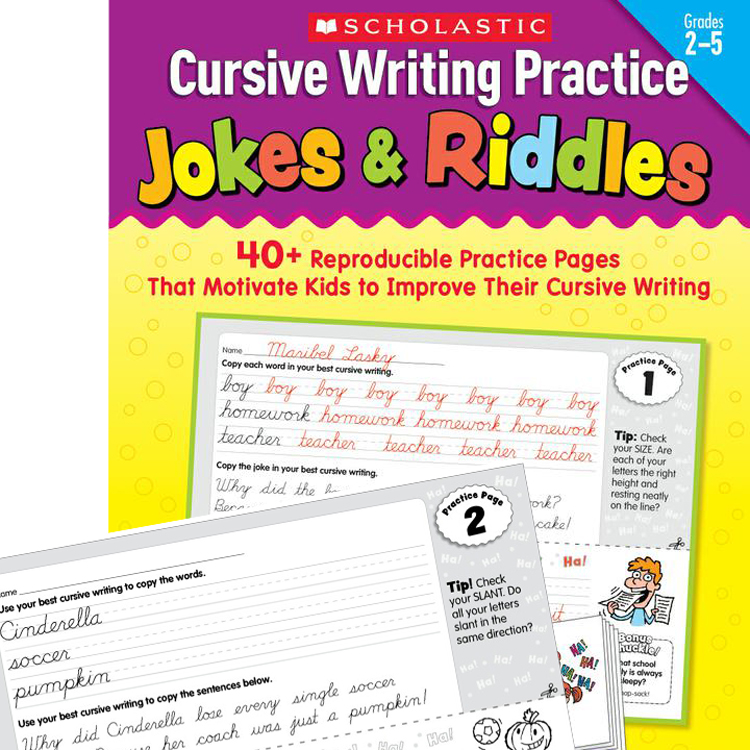 Cursive handwriting practice jokes and riddles
