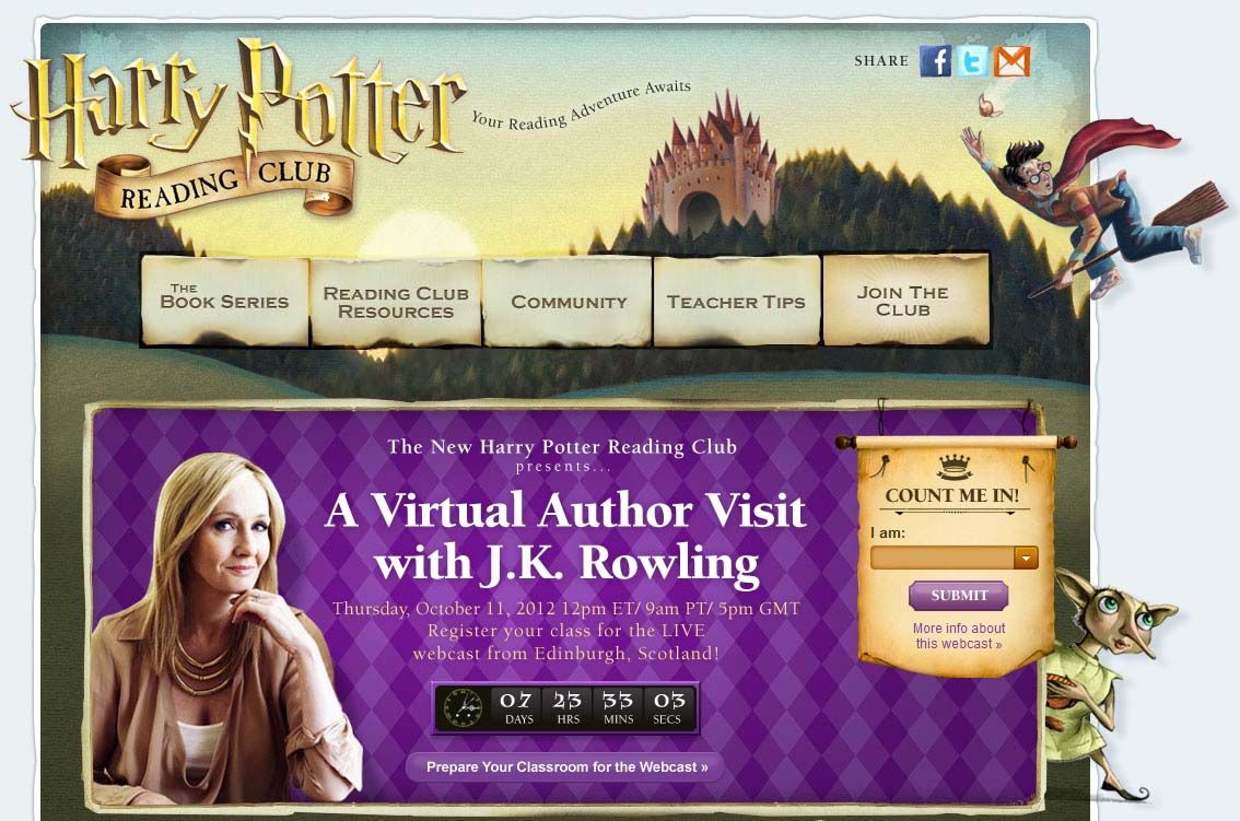 Harry Potter Book Club on Scholastic