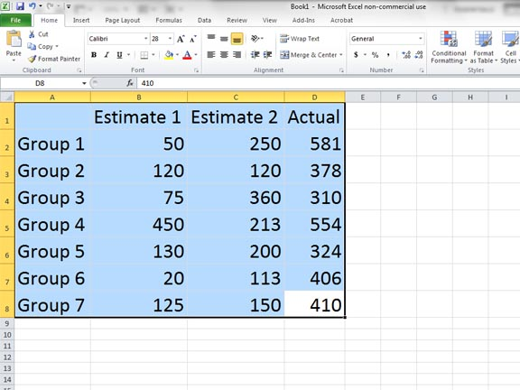 how to get median using excel