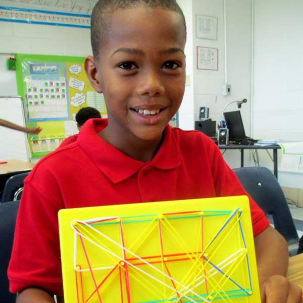 A Geoboard in Action