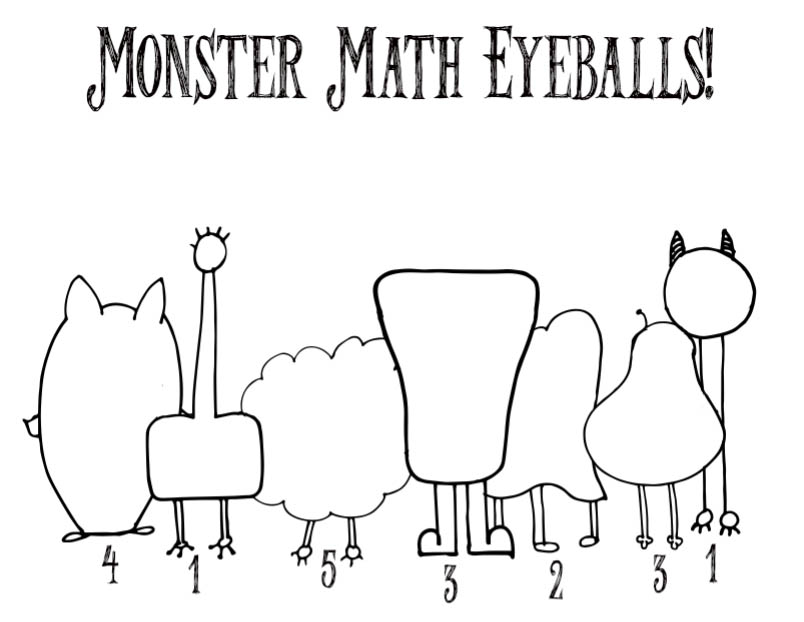 Monster math eyeballs