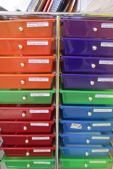 Colored Bins