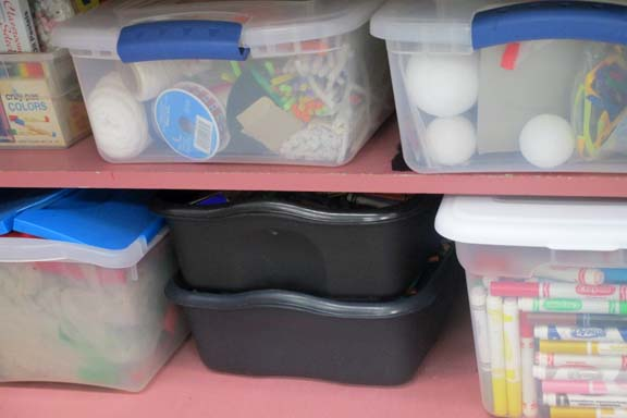 Organized Craft Bins