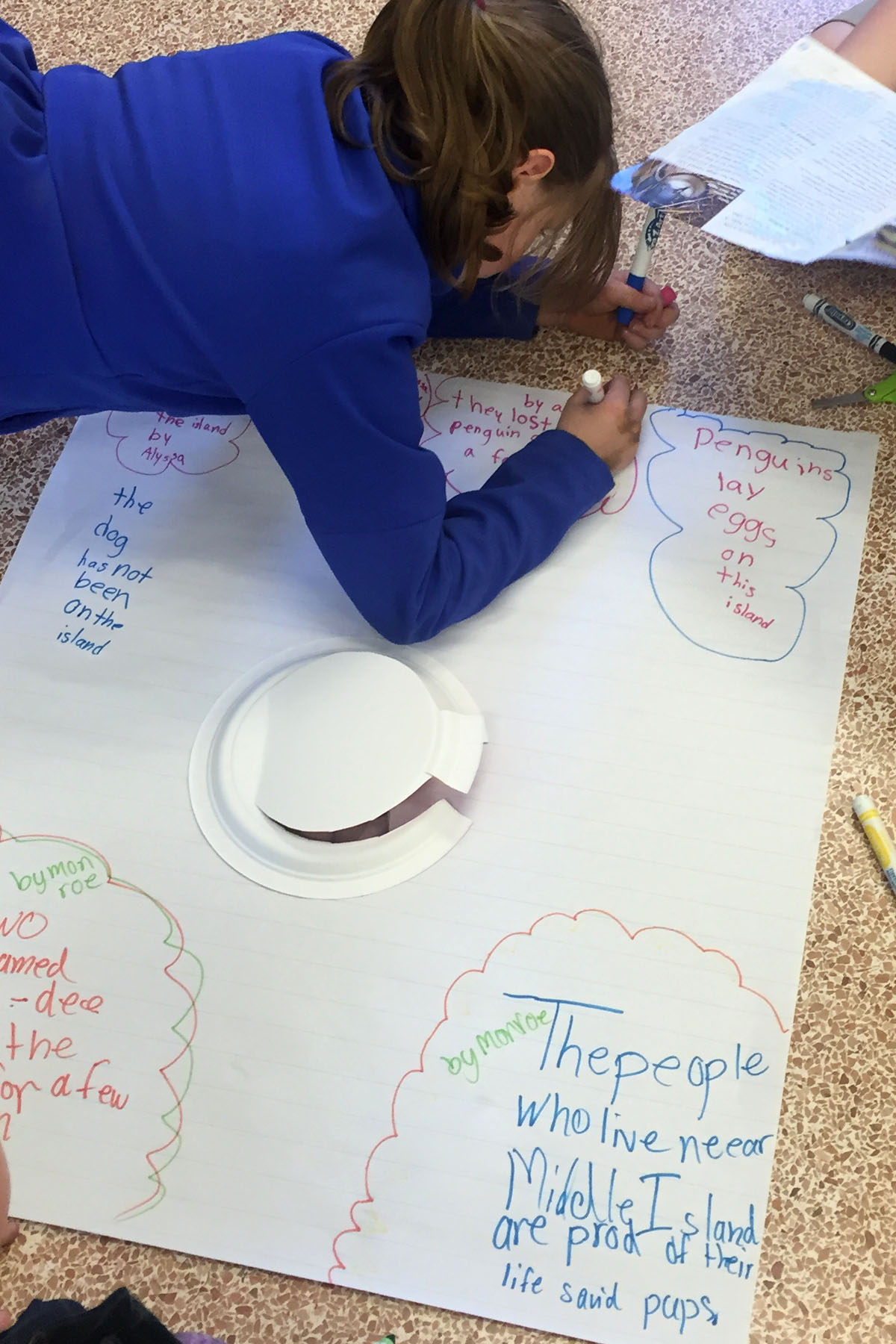 writing on a poster