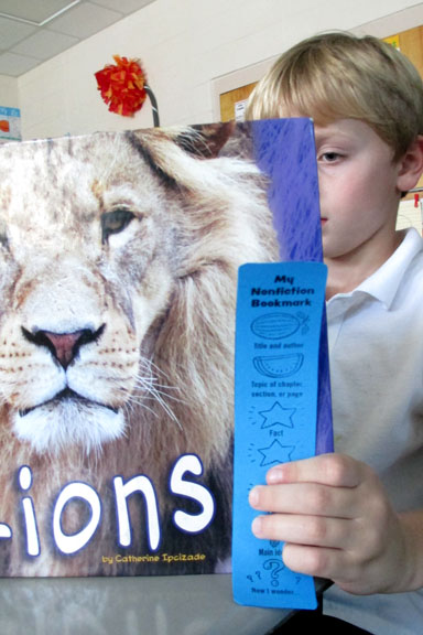 Reading Nonfiction with a Bookmark