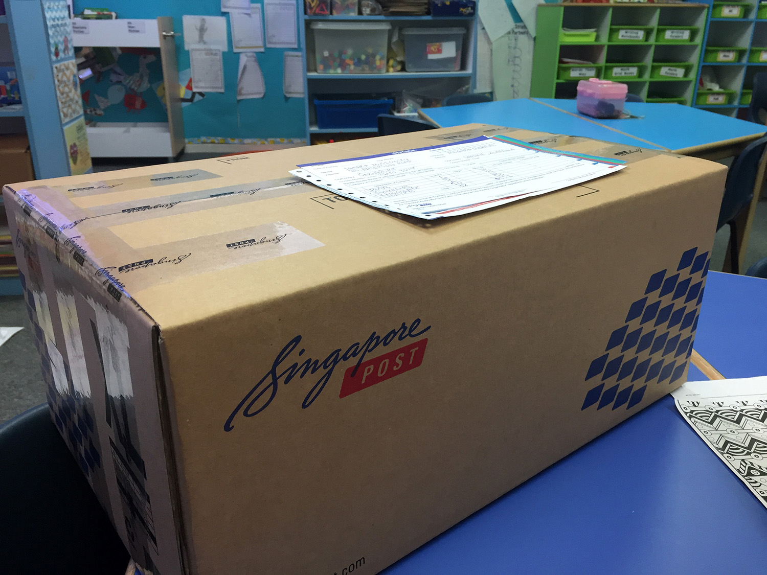 a box from Singapore