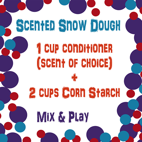 Scented Snow Dough