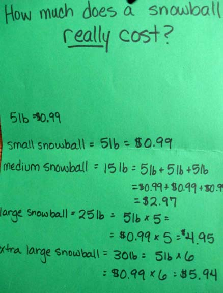 Calculating snowball costs