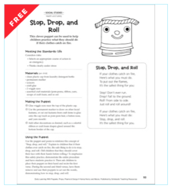 Stop drop and roll activity