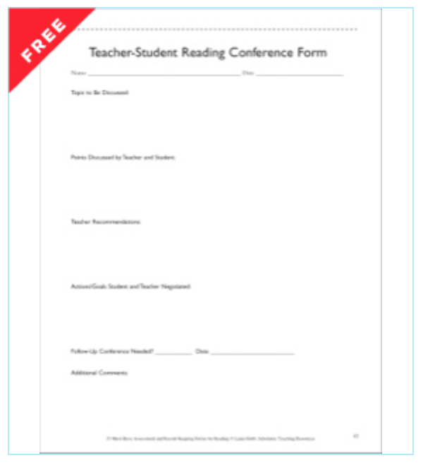 Teacher Student Conference Form