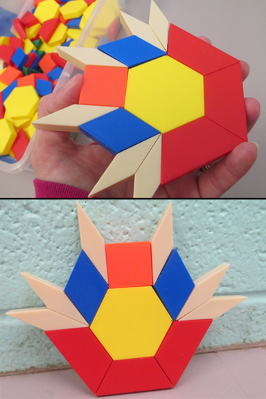 Pattern blocks stuck together