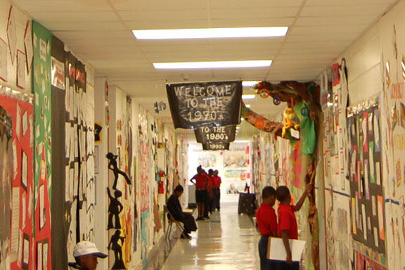 Decorated Hallway