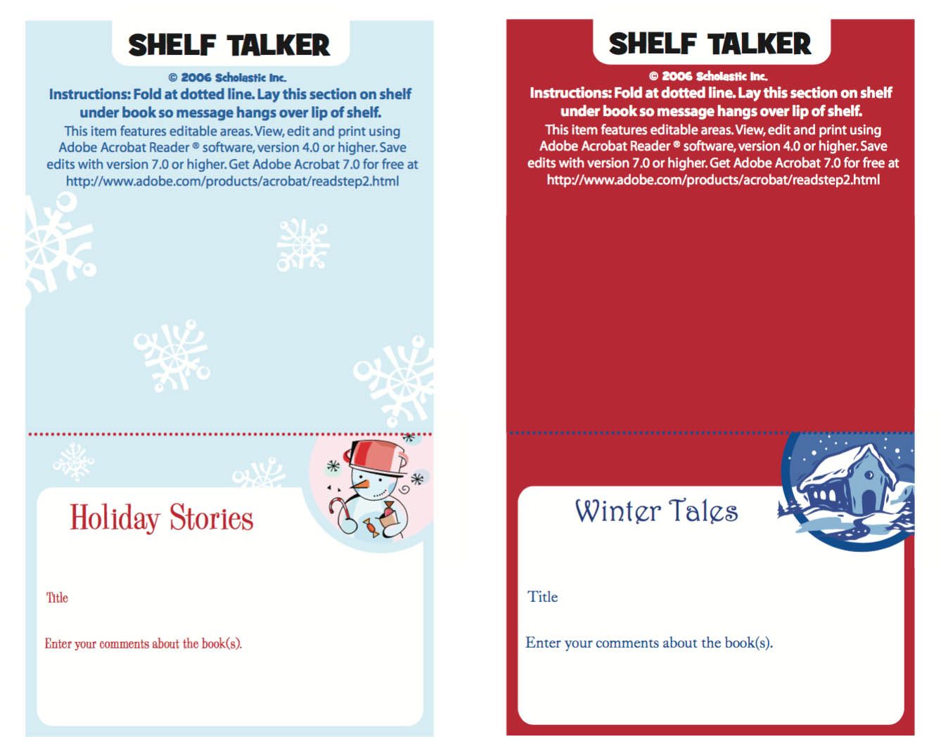 Winter shelf talker
