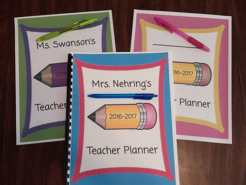 photograph regarding Printable Teacher Planner referred to as Printable Trainer Planner Scholastic