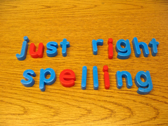 To Spell or Not to Spel? Creating a Just-Right Spelling
