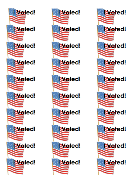 Stupendous image regarding i voted stickers printable