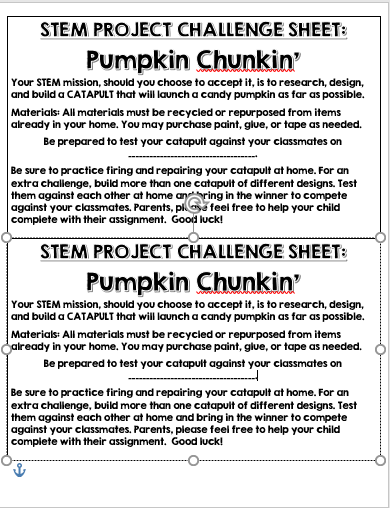 October Homework Full Stem Ahead Scholastic