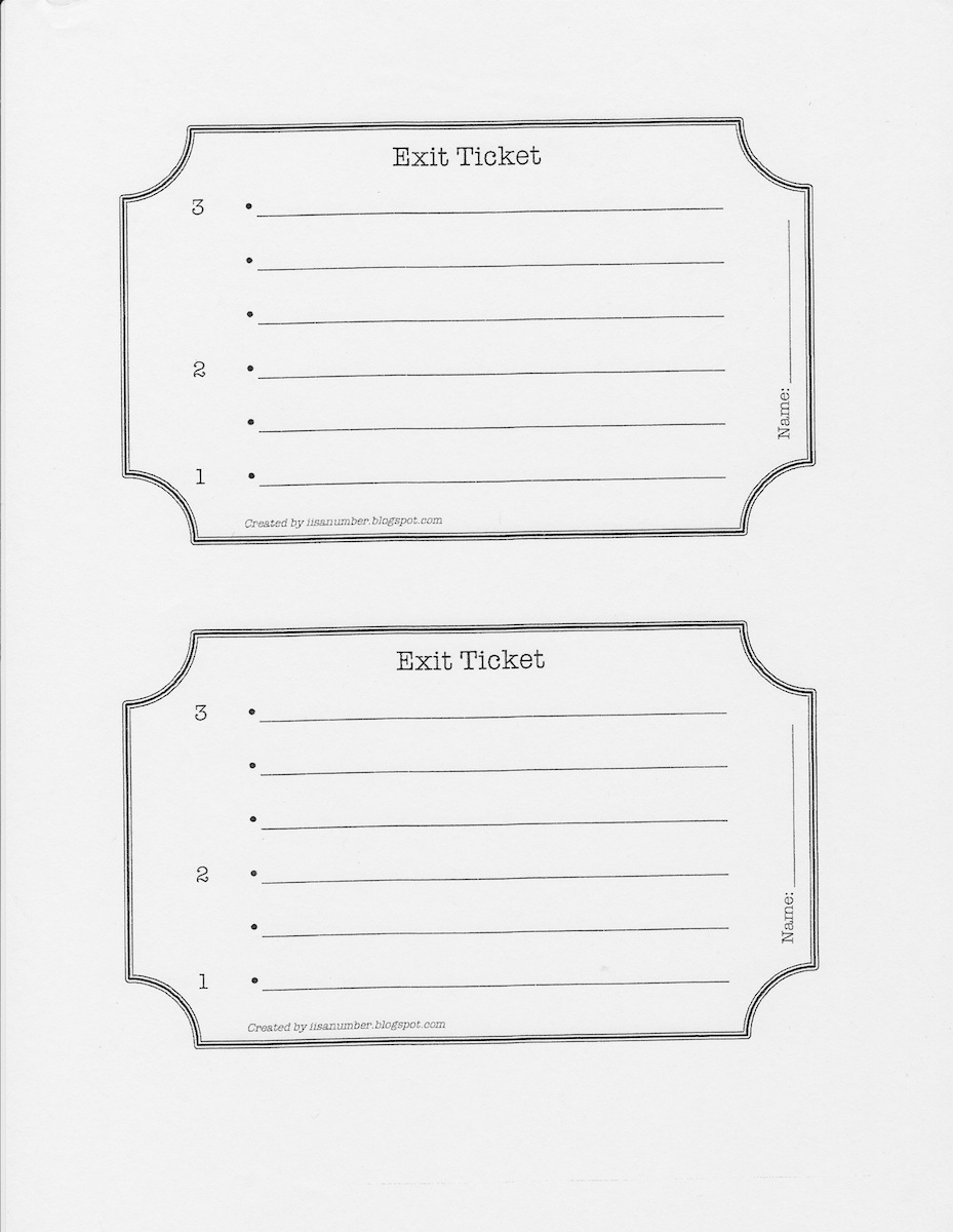 photograph regarding Printable Exit Tickets known as Utilizing Exit Tickets as an Analysis Software Scholastic