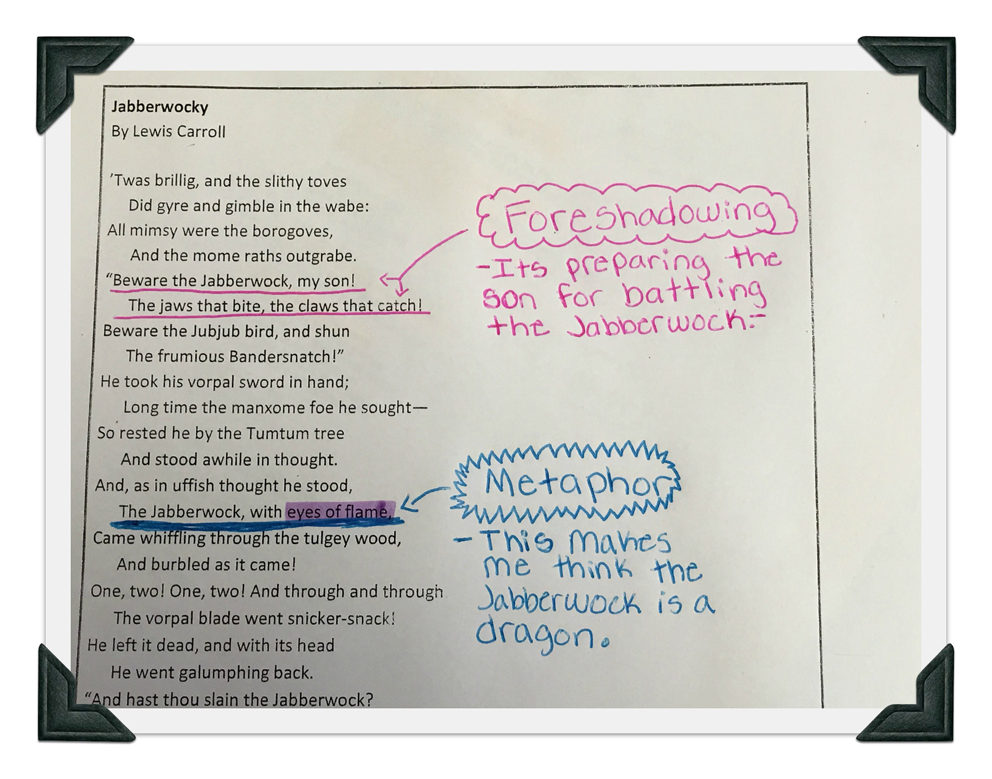 Poetry as Mentor Text