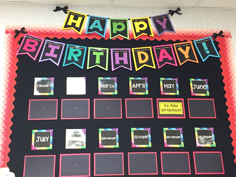 Birthdays Are A Blast In Kindergarten Heres My Birthday Board Again Looking Little Plain As I Wait For The First Day Of School