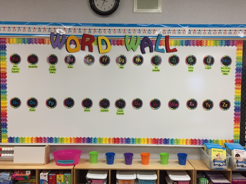 Word Wall Ideas For Kindergarten
