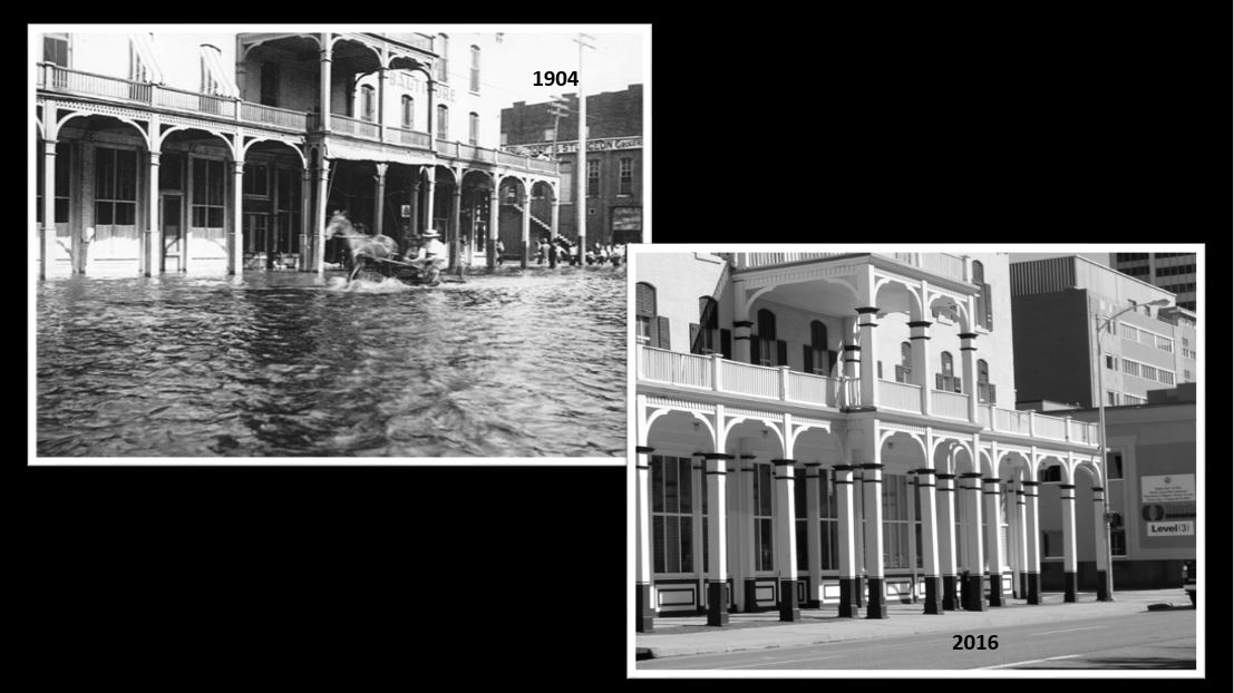 slide showing Wichita building in 1904 and 2016