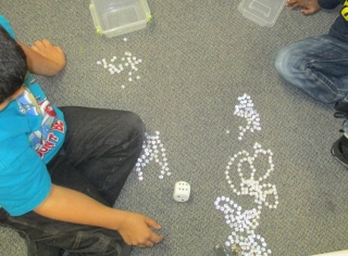 place value bead game