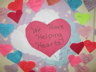 wall of helping hearts
