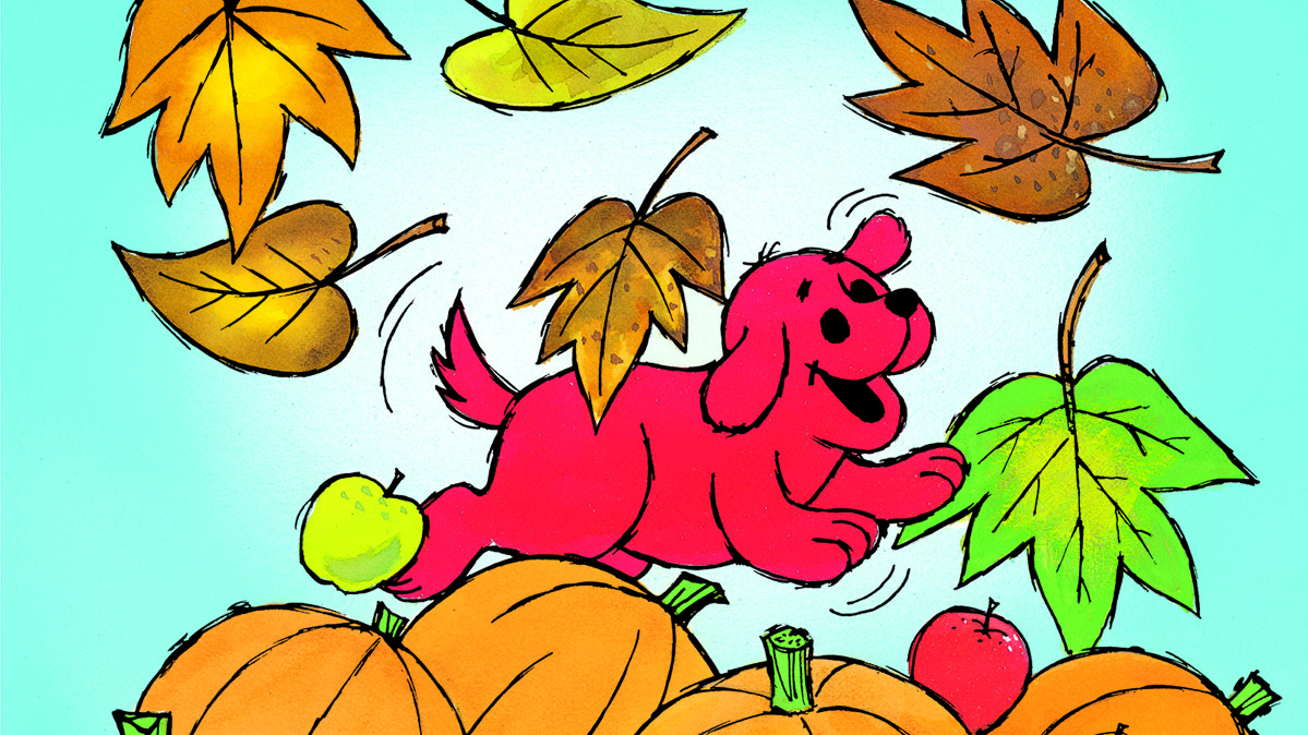 colorful fall fun with clifford scholastic