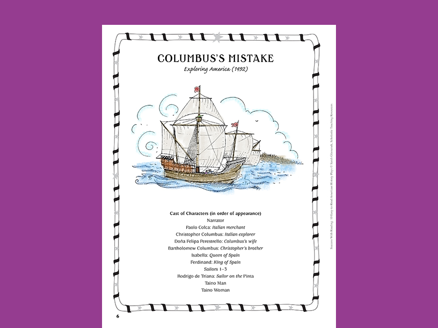 Columbus day activity set scholastic columbuss mistake american history play ibookread Download