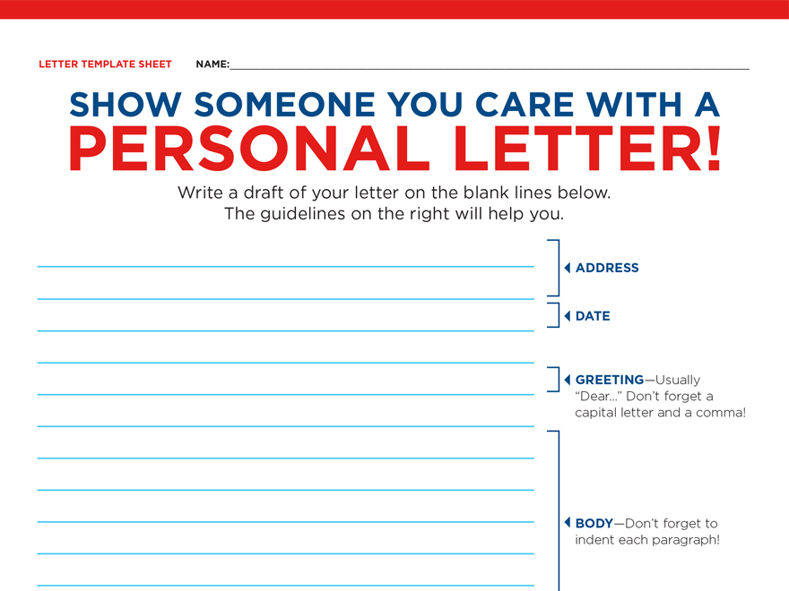 Show Someone You Care A Letter Writing Unit Scholastic