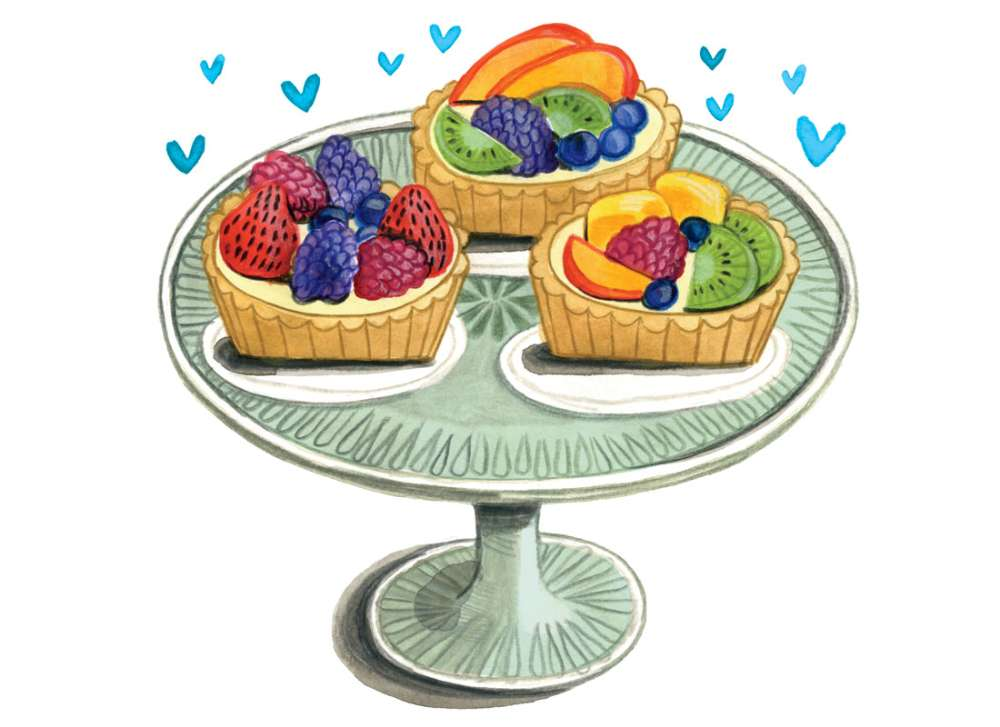Custard Fruit Tart Recipe