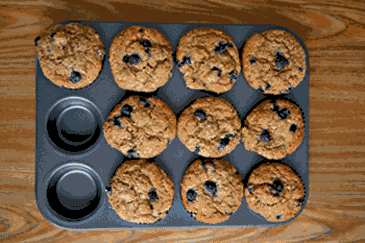 Healthy Breakfasts: Whole-Wheat Blueberry Muffins