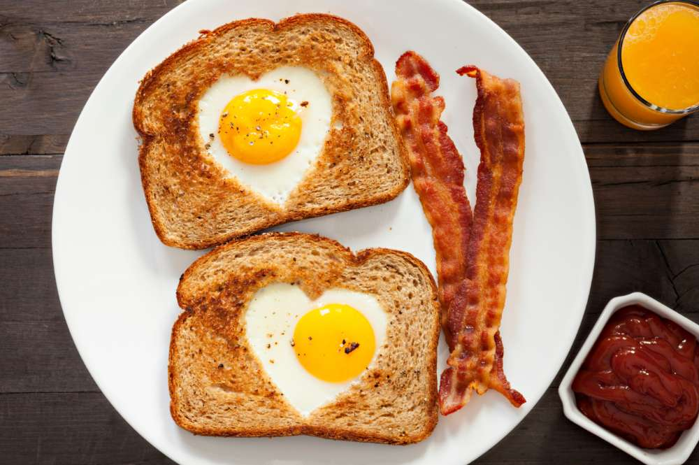 Heart-Shaped Egg Toast
