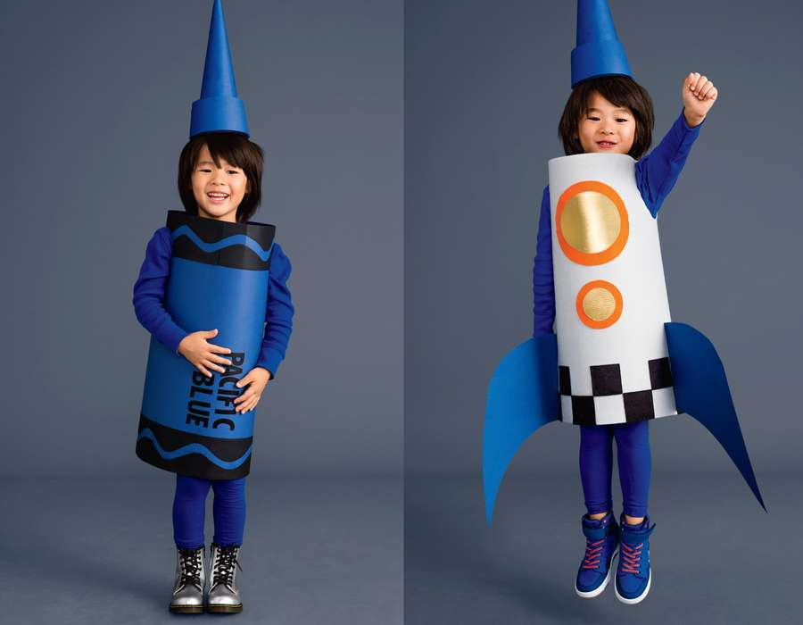 Rocket and Crayon Costumes for Kids
