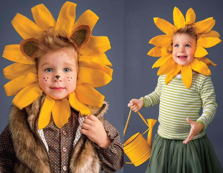 Sunflower and Lion Costumes for Kids