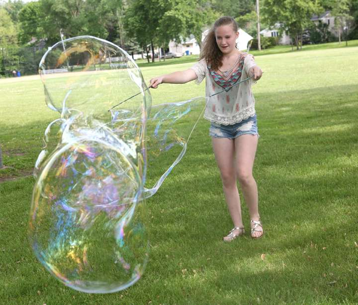 Get Outside to Make Giant Dish Soap Bubbles