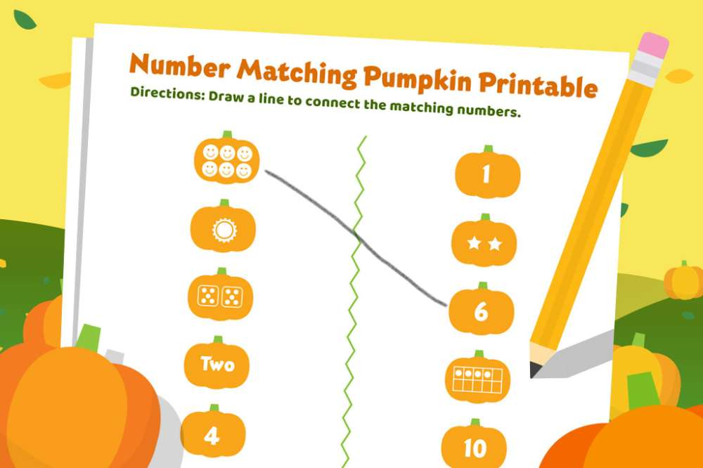 Match Up Pumpkins to Practice Counting