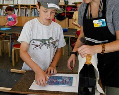 Monotype Printmaking With Kids