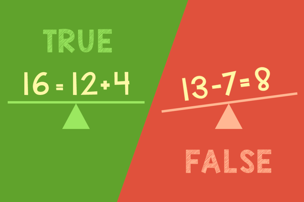 Practice the Equal Sign With This True-False Printable