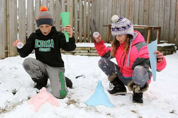Snow Play: Make a Frozen Volcano