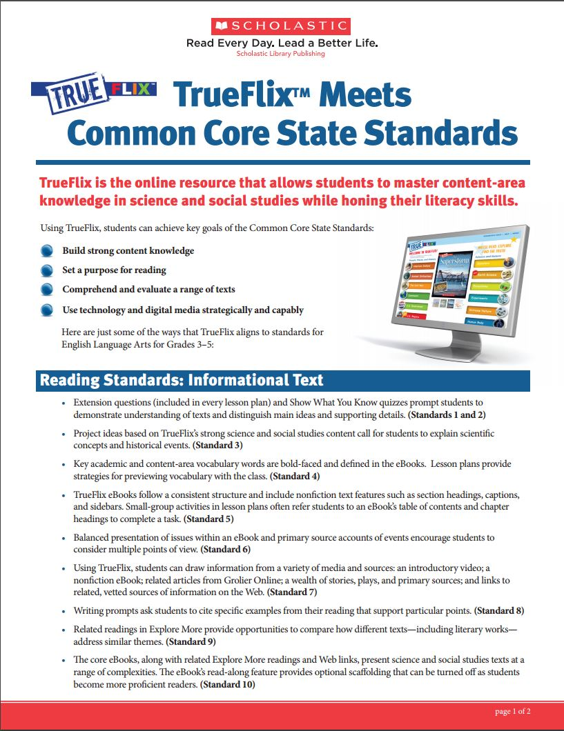 Trueflix trueflix and the common core fandeluxe Choice Image