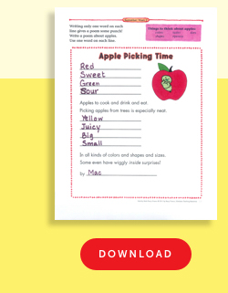Apple Picking Poetry Frame