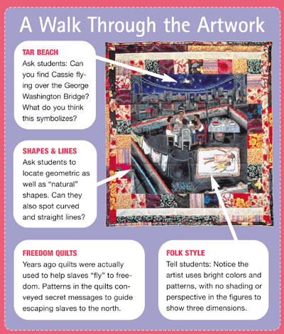 describe faith ringgold s tar beach painting Faith ringgold : aunt harriet's underground  s books, and her first book, tar beach was a  of art will be a selection of ringgold's .