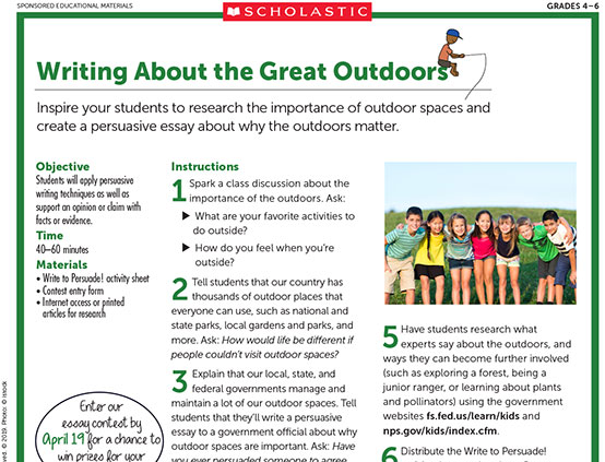 Outdoors Alliance for Kids | Scholastic