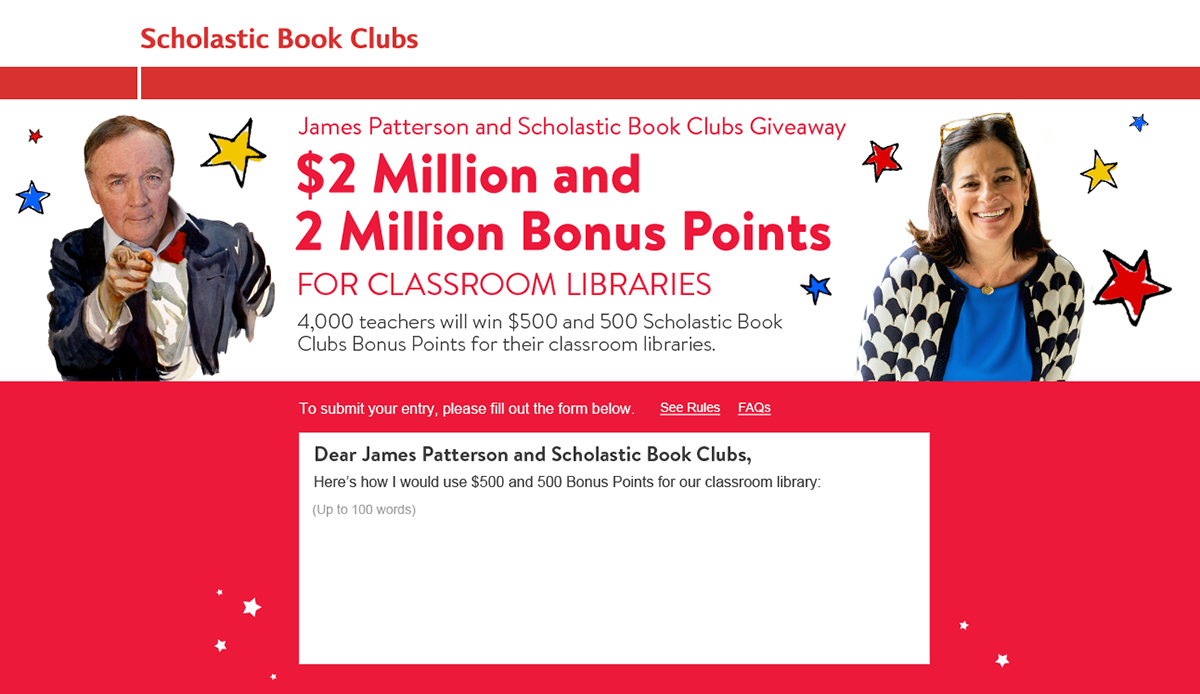 New for 2018! James Patterson and Scholastic Book Clubs