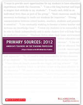 Primary Sources 2012