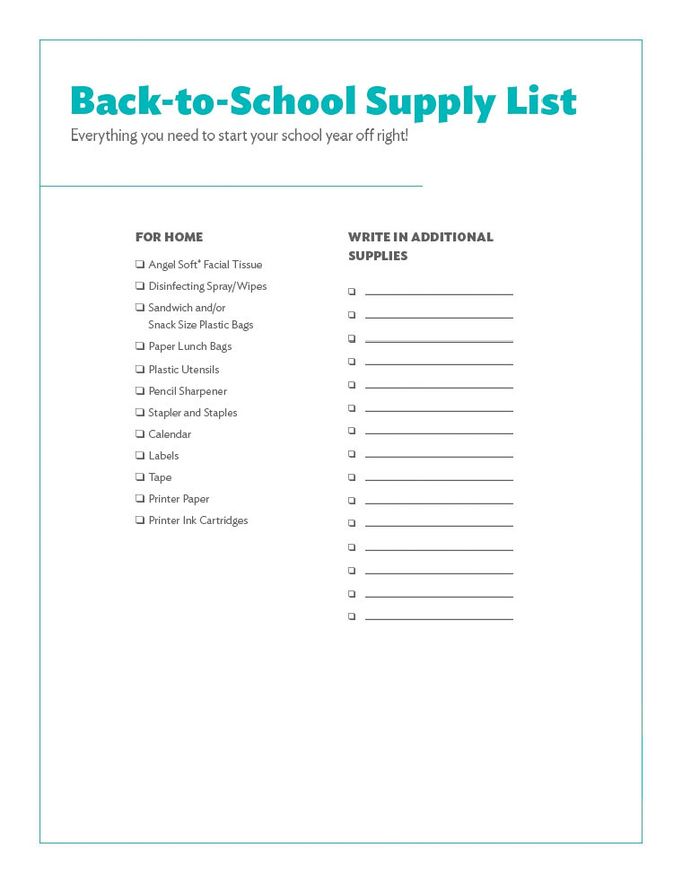 List Of School Supplies Around Arizona