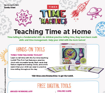 time management activity sheet for kids