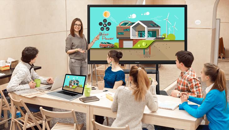 Pantalla interactiva para aprendizaje